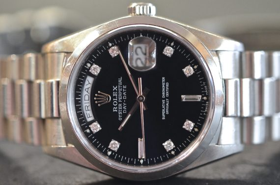 Rolex Day-Date ref. 18026 Indici Diamanti in Platino