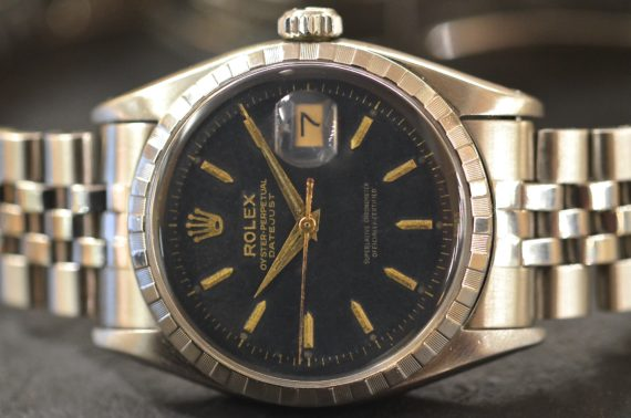 Rolex Datejust ref. 6605 in Acciaio Grafica Oro