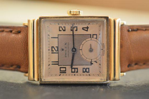 Rolex Chronometer ref. 3258 Quadrante Rosa Bitonale in Oro Rosa 18k