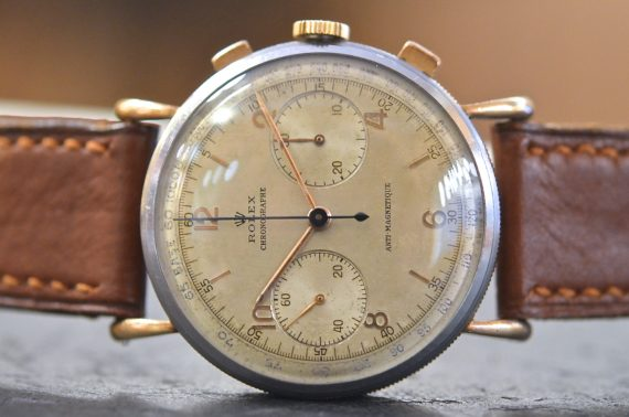 Rolex Chronograph Antimagnetique ref. 4062 in Acciaio e Oro
