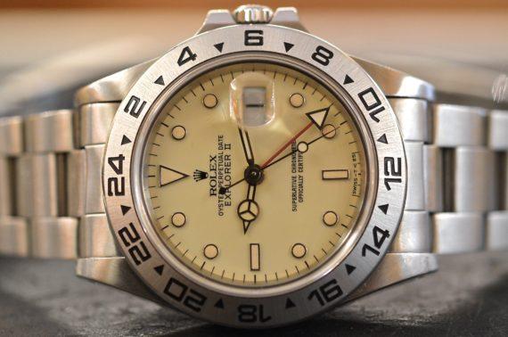 Rolex Explorer II ref. 16550 Pannone in Acciaio1