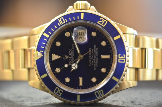 Rolex Submariner ref. 16808 in Oro Giallo 18k