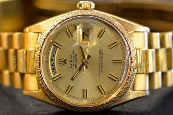 Rolex DayDate ref. 1807 Corteccia in Oro Giallo 18k