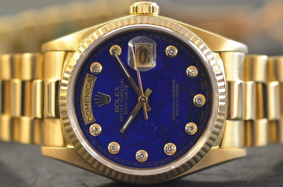 Rolex DayDate ref. 18038 Lapis Lazuli in Oro Giallo 18k