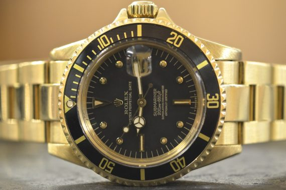 Rolex Submariner ref. 1680 Meter First Patent Pending in Oro Giallo 18k