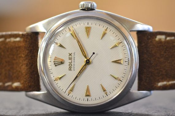 Rolex Oyster Perpetual Ovettone ref. 6098 Nido D'Ape in Acciaio Top Condition