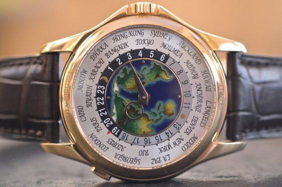 Patek Philippe Ore del Mondo ref. 5131 R Quadrante Smalto in Oro Rosa 18k Completo2