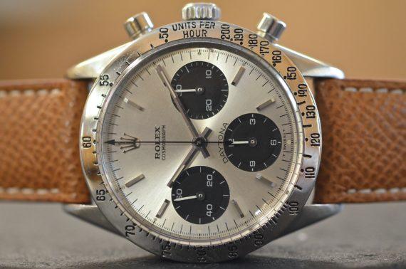 Rolex Daytona ref. 6239 Scritta ad Archetto in Acciaio