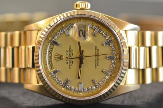 Rolex DayDate ref. 18238 Diamanti in Oro Giallo 18k