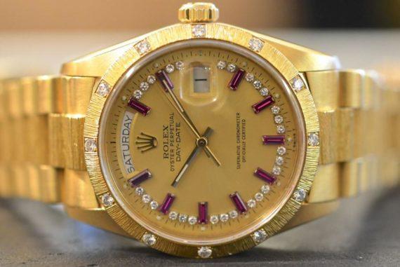 Rolex Daydate Ref.18208 Oro Giallo 18k Quadrante Rubini