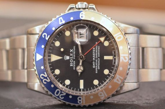 Rolex GMT Master ref. 1675 Grafica Bianca Arabo Full Set in Acciaio